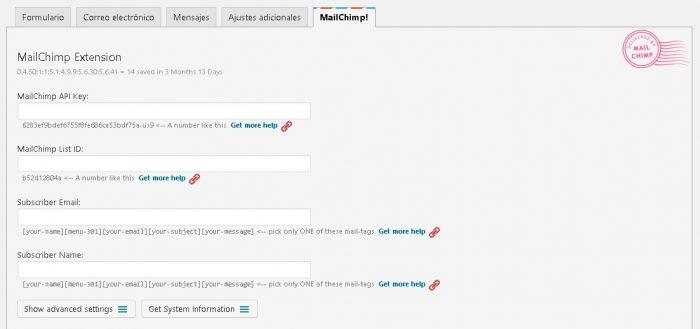 integrando mailchimp y wordpress