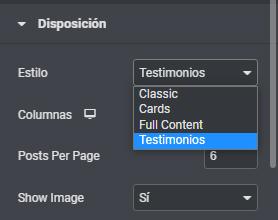 widget post personalizado en elementor